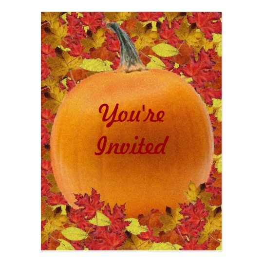 Thanksgiving Invitation Post Card