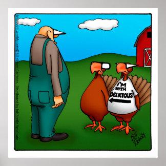 """Thanksgiving """"je suis avec"""" l'affiche délicieuse"""