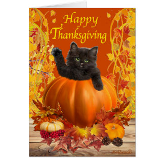 Thanksgiving Kitty Card