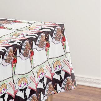 THANKSGIVING LADY PILGRIM table cloth