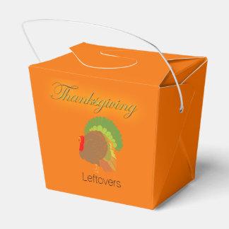 Thanksgiving Leftovers Take-Out Carton Favor Box