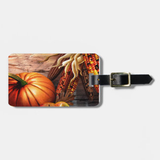Thanksgiving Maize Corn Pumpkin Luggage Tag