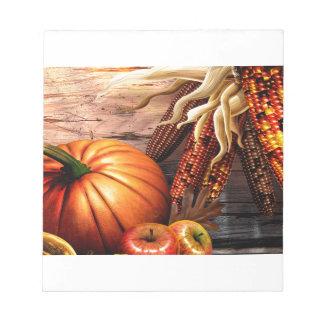 Thanksgiving Maize Corn Pumpkin Notepad