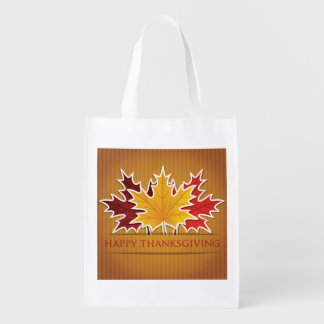Thanksgiving maple leaf grocery bags