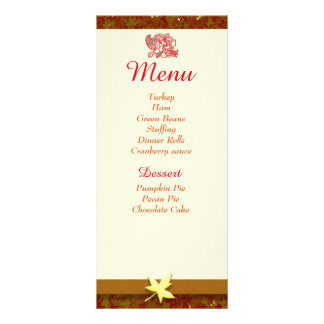 Thanksgiving Menu individual cards