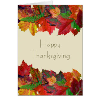 Thanksgiving Message Friendship Card