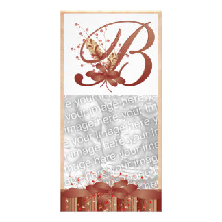 Thanksgiving Monogram B Photo Card