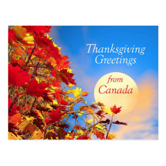 Thanksgiving Morning from Canada Postcard