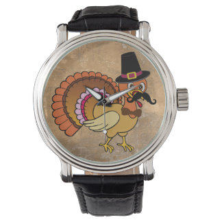 Thanksgiving Mustache Turkey Watch