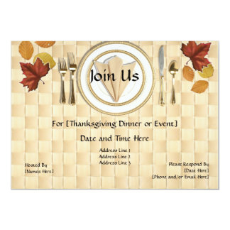 Thanksgiving or Fall Dinner Party Invitations