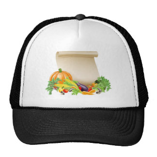 Thanksgiving or fresh produce scroll mesh hats