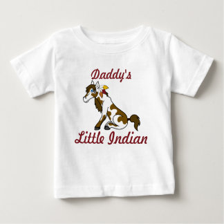 Thanksgiving Painted Horse with Turkey Feathers Baby T-Shirt