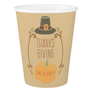 Thanksgiving. Paper Cup