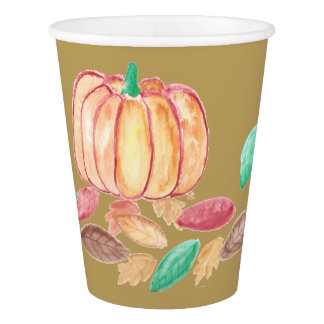 Thanksgiving paper cups