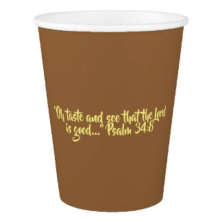 """Thanksgiving Paper Cups """"Taste and See"""""""
