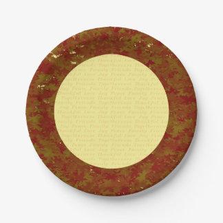 Thanksgiving paper plates
