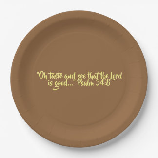 "Thanksgiving Paper Plates ""Taste and See"""