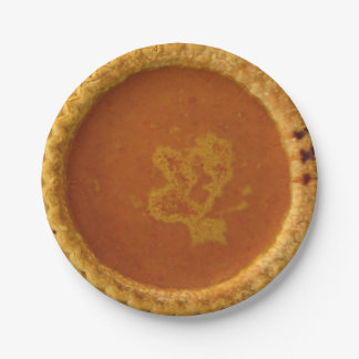 Thanksgiving Paper Plates With Pumpkin Pie
