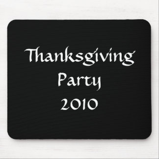 Thanksgiving Party 2010 Stylish Black White Custom Mouse Pad