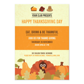 Thanksgiving Party Invitation Card