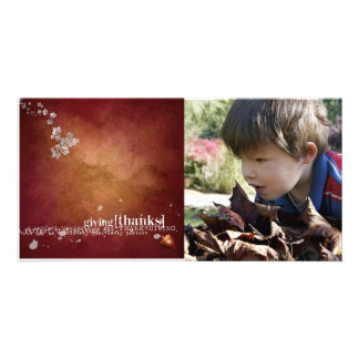 thanksgiving Photcard Photo Card Template