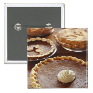 Thanksgiving pies, (Close-up) 2 Inch Square Button