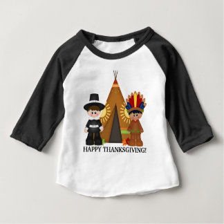 Thanksgiving Pilgrim and Indian baby t-shirt