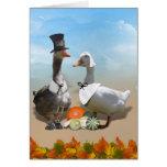 Thanksgiving Pilgrim Duck Couple