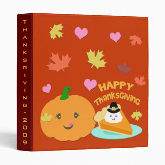Thanksgiving Pilgrim Pumpkin Pie Binder