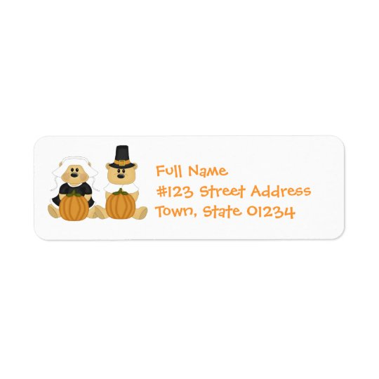 Thanksgiving Pilgrims Mailing  Labels