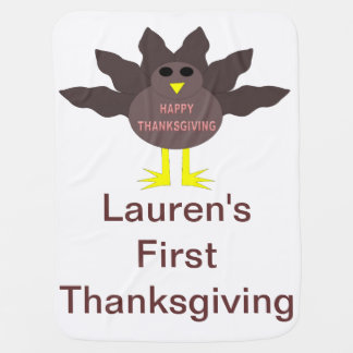 Thanksgiving Plucked Turkey Custom Baby Blanket