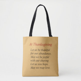Thanksgiving Poetry Tote Bag