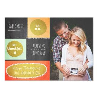 Thanksgiving pregnancy announcement Fall Chalk