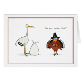 Thanksgiving Pregnancy Announcement Note Card