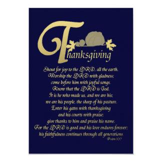 "Thanksgiving - Psalm 100 5"" X 7"" Invitation Card"
