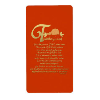 Thanksgiving - Psalm 100 Shipping Labels