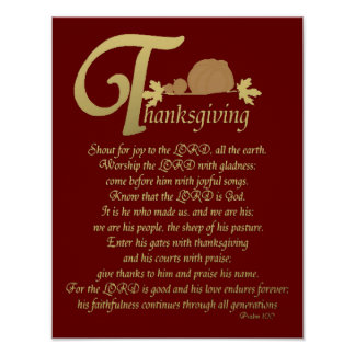 Thanksgiving - psaume 100