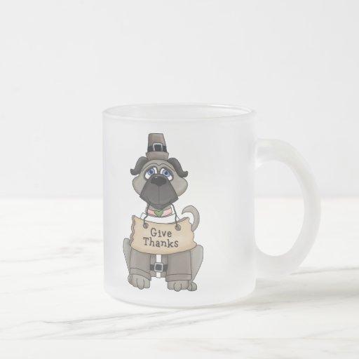 Thanksgiving Pug Dog Coffee Mugs