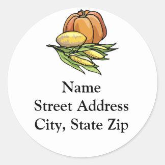 Thanksgiving Pumpkin Classic Round Sticker