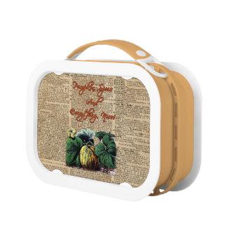 Thanksgiving Pumpkin Dictionary Art Lunch Box