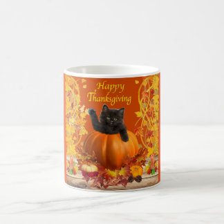 Thanksgiving Pumpkin Kitty Coffee Mug
