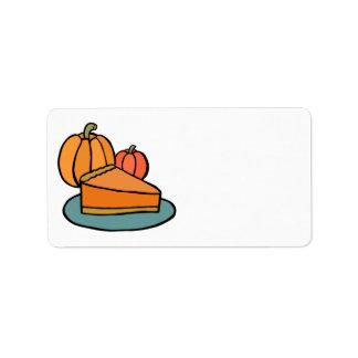Thanksgiving Pumpkin Pie Address Sticker