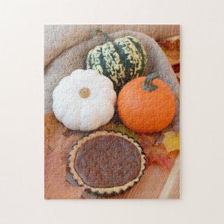 Thanksgiving pumpkin pie jigsaw puzzle