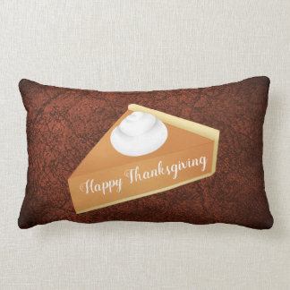 Thanksgiving pumpkin pie lumbar pillow
