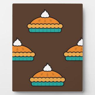 Thanksgiving Pumpkin Pie Pie Dessert Pumpkin Plaque