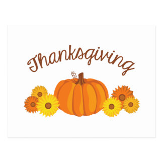 Thanksgiving Pumpkin Postcard