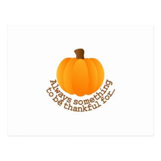 Thanksgiving Pumpkin Postcard
