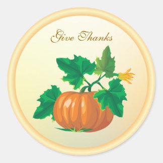 Thanksgiving pumpkin Sticker