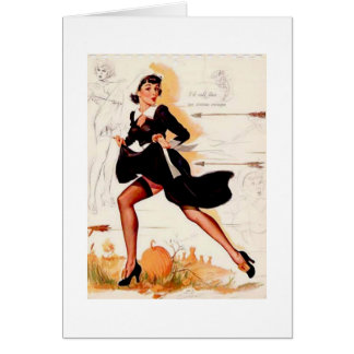 Thanksgiving Quaker Girl Pin Up Girl Card