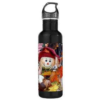 Thanksgiving Rag Doll Amongst Autumn Harvest Scene 710 Ml Water Bottle